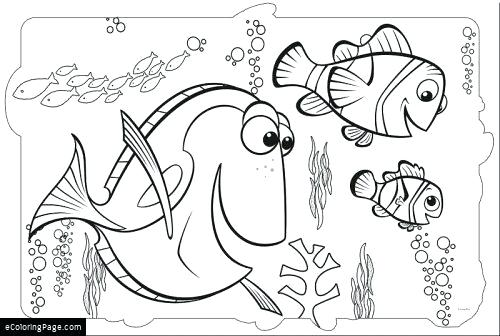 500x336 Coloring Finding Nemo Coloring Sheets Pages Printable Of Free