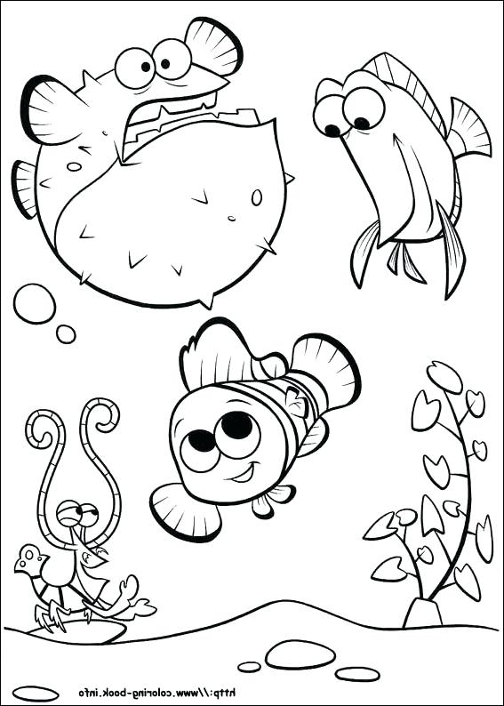 567x794 Lovely Finding Dory Coloring Pages And Finding Dory Coloring Pages