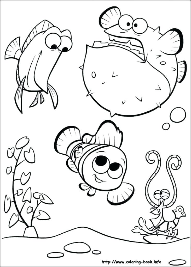 731x1024 Finding Nemo Color Pages Coloring Pages Printable Finding Nemo