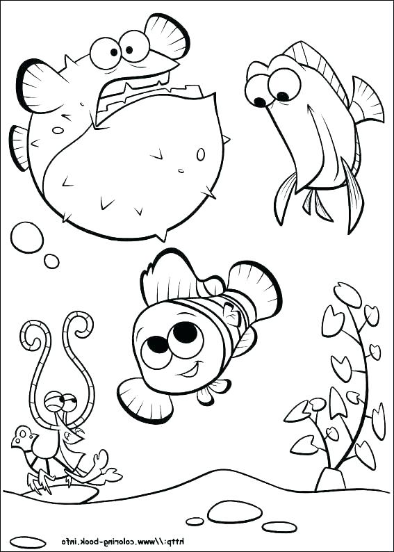567x794 Nemo Printable Coloring Pages Finding Color Pages Finding Coloring