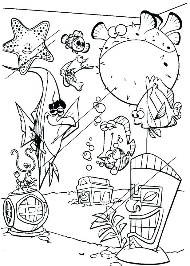 618x863 Nemo Printable Coloring Pages Finding Coloring Pages And Fish Tank