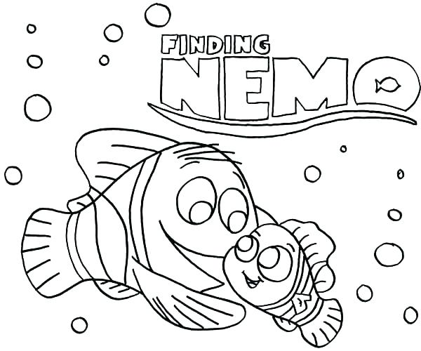 600x500 Finding Nemo Color Pages
