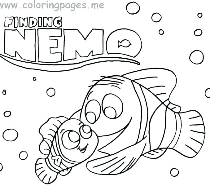 678x600 Finding Nemo Coloring Pages Finding Coloring Pages Finding