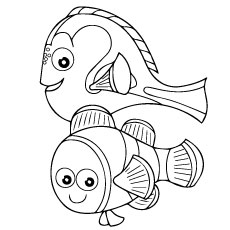 Finding Nemo Coloring Pages Free