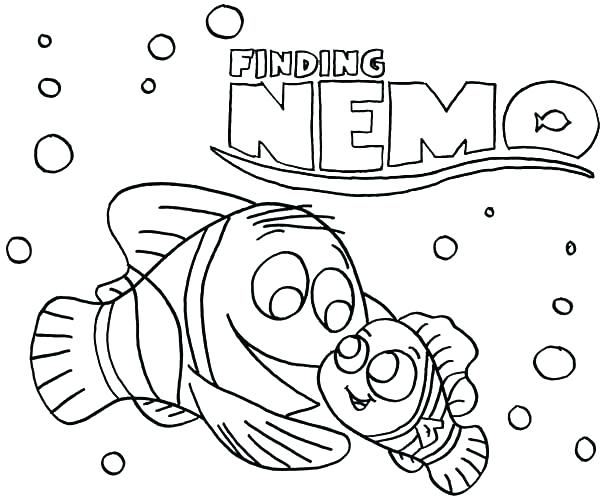 600x500 Finding Nemo Coloring Page Finding Color Pages Printable Finding