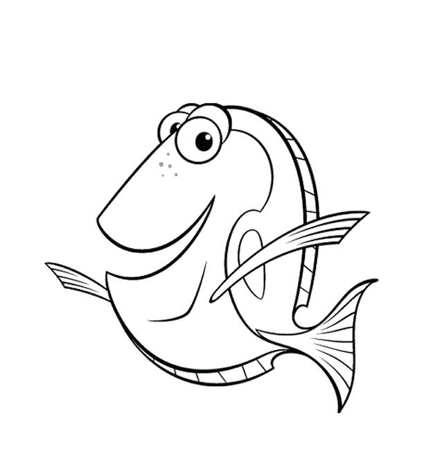 612x671 Finding Nemo Coloring Page Finding Coloring Pages Free Online