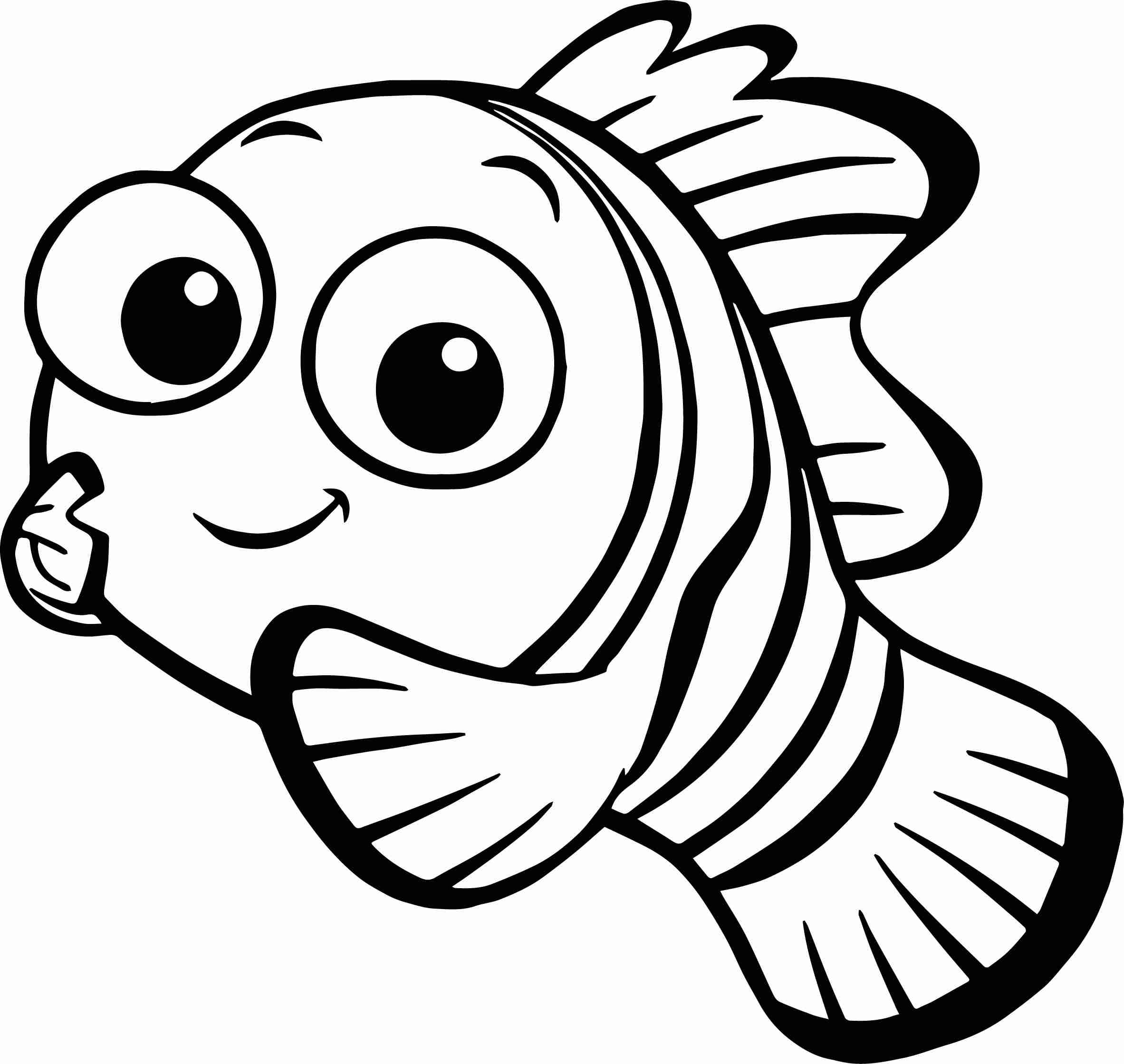 2365x2239 Finding Nemo Coloring Pages Free In Olegratiy