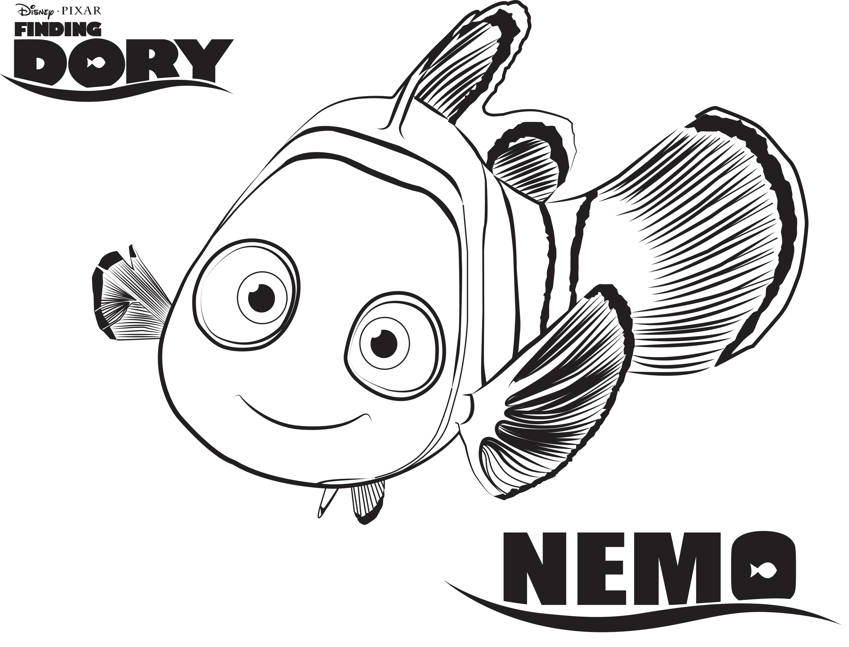 2879x2196 Awesome Printable Disney Coloring Pages Dory Design Printable