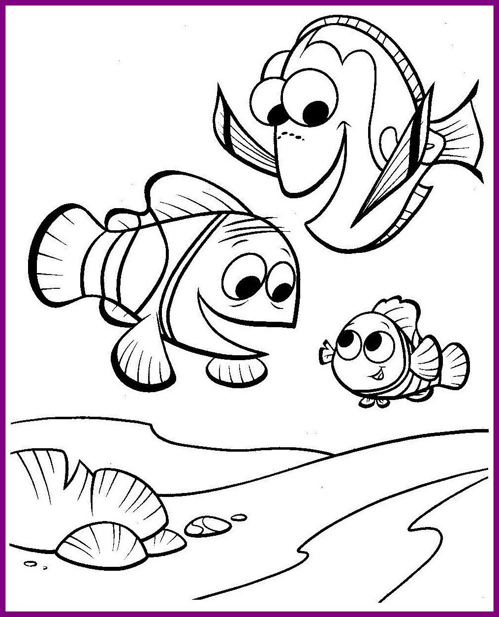 1014x1254 Best Finding Nemo Coloring Page Trafarety Detskie Ryby Pic