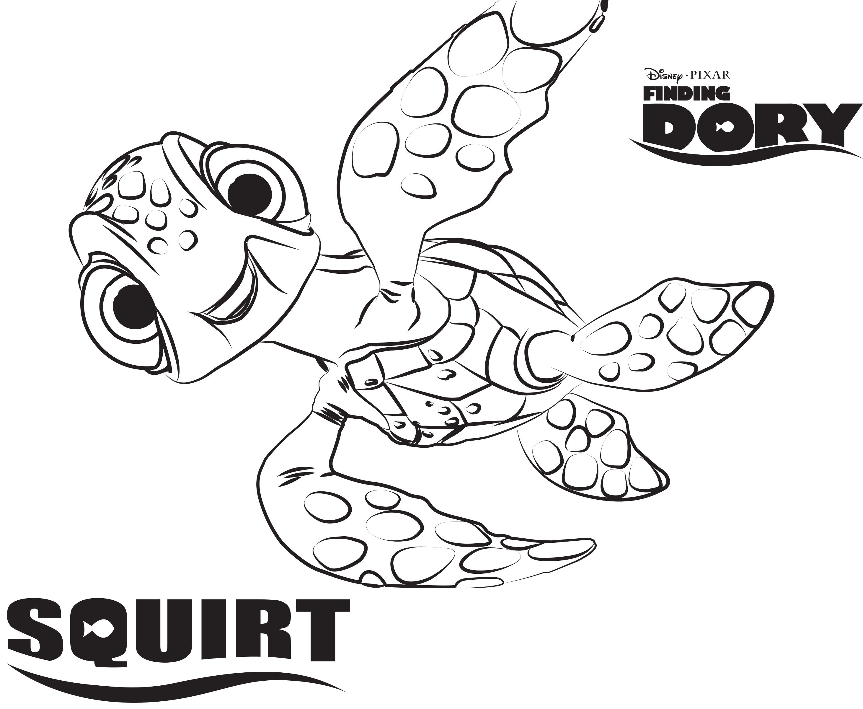 2923x2401 Disney's Finding Dory Coloring Pages Sheet, Free Disney Printable