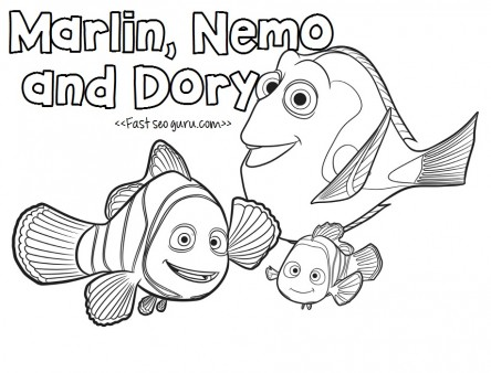 444x338 Finding Dory Characters Coloring Pages