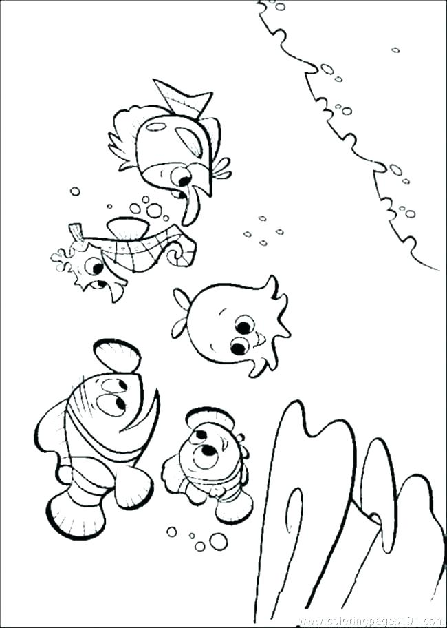 650x912 Finding Nemo Coloring Pages Finding Coloring Pages Finding Nemo