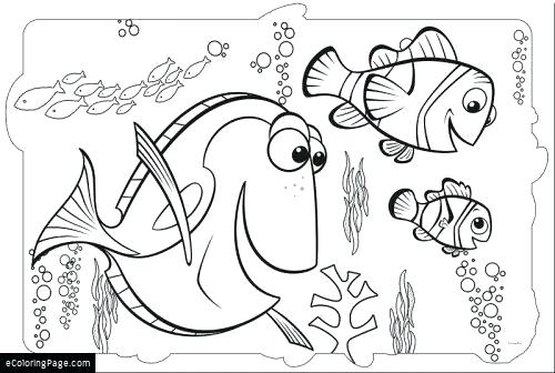 500x336 Finding Nemo Coloring Pages Finding Dory And Coloring Page Finding