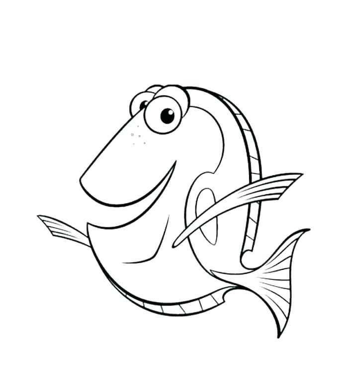 700x767 Finding Nemo Coloring Pages Finding Nemo Coloring Pages Darla