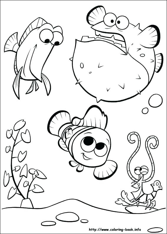 567x794 Finding Nemo Coloring Pages Pdf Archives