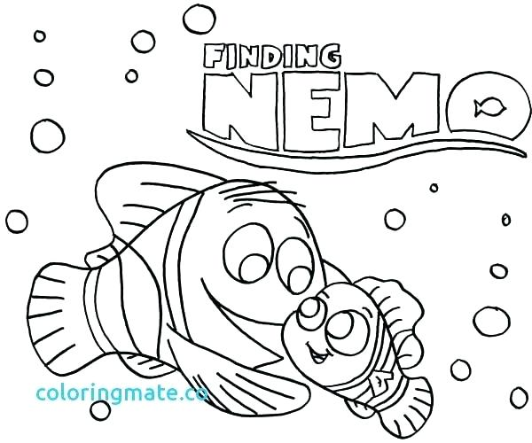 600x500 Finding Nemo Coloring Pages