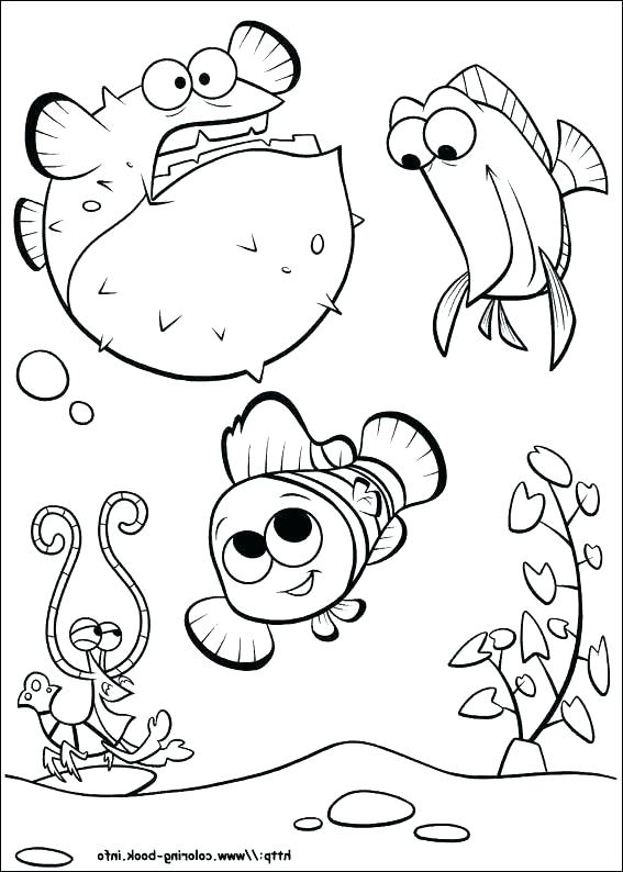 567x794 Finding Nemo Coloring Book Finding Coloring Pages Finding Coloring