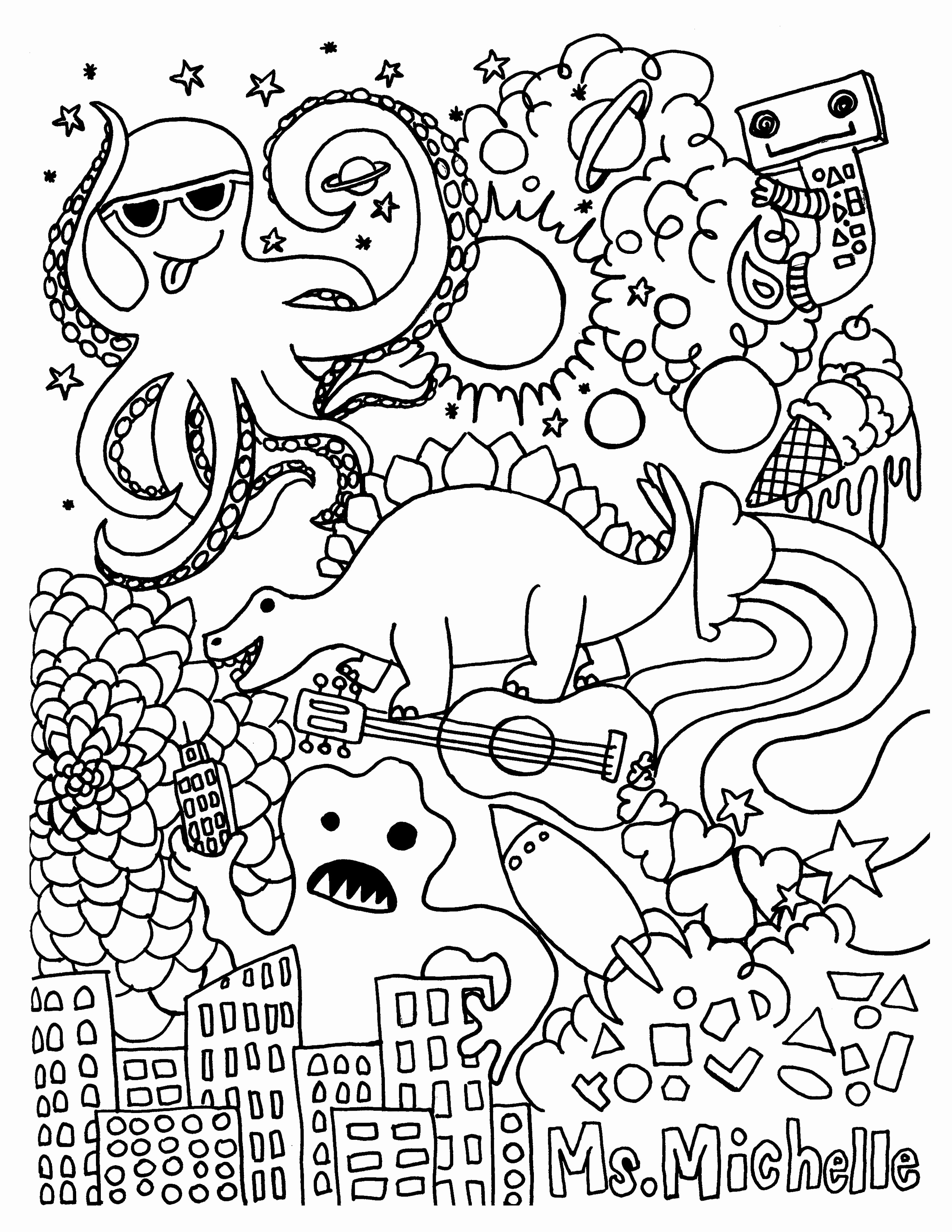2550x3300 Finding Nemo Coloring Pages New Emejing Crush Finding Nemo