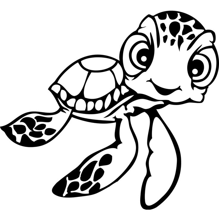 736x736 Finding Nemo Turtle Coloring Pages Crush And Squirt Coloring Pages