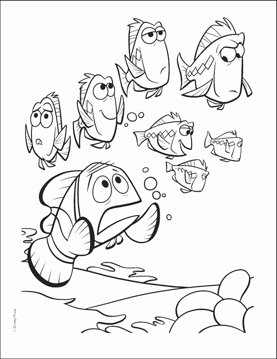1083x1400 Finding Nemo And Crush Finding Nemo Coloring Pages Printable