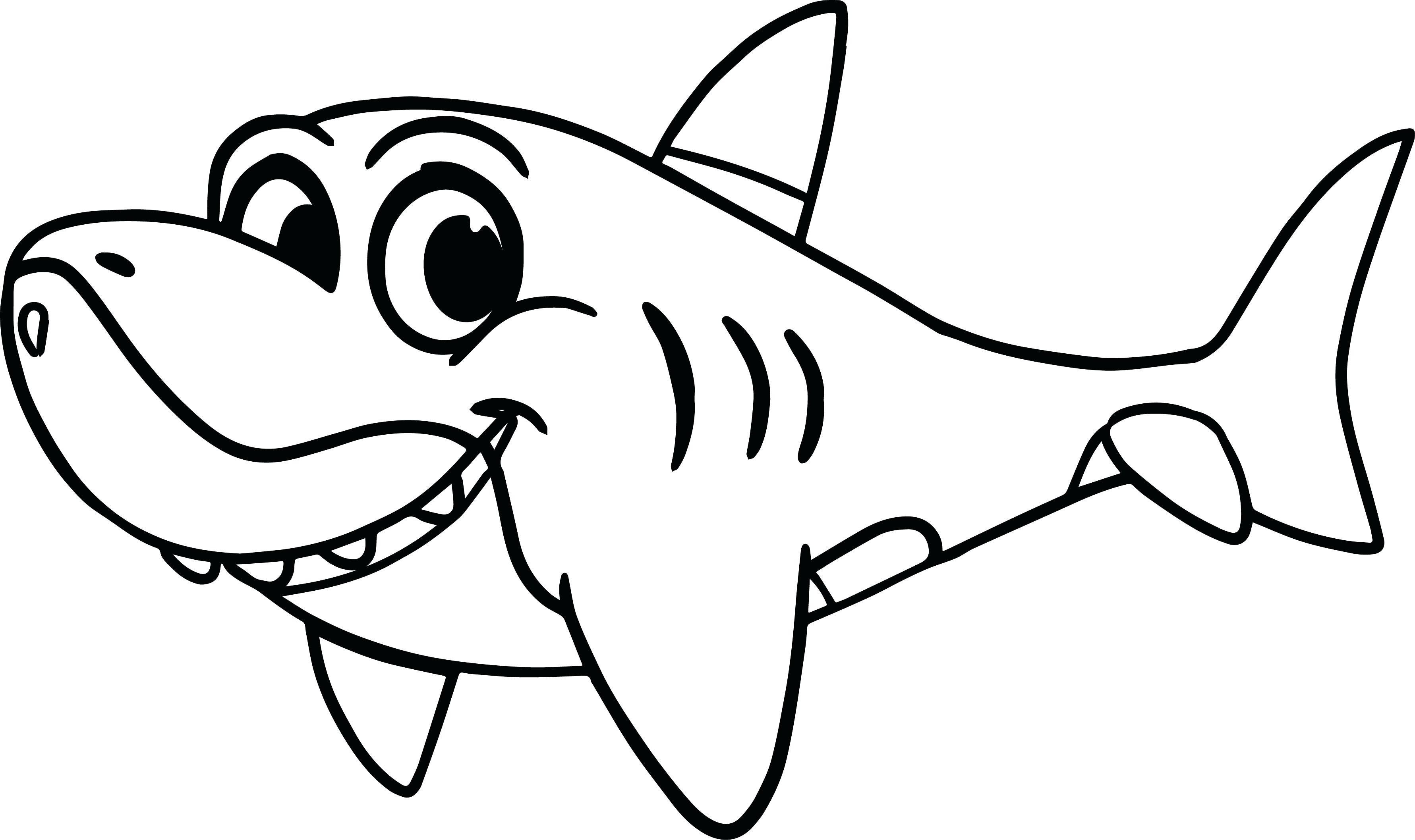3562x2116 Great White Shark Coloring Pages Luxury Disney S Finding Nemo