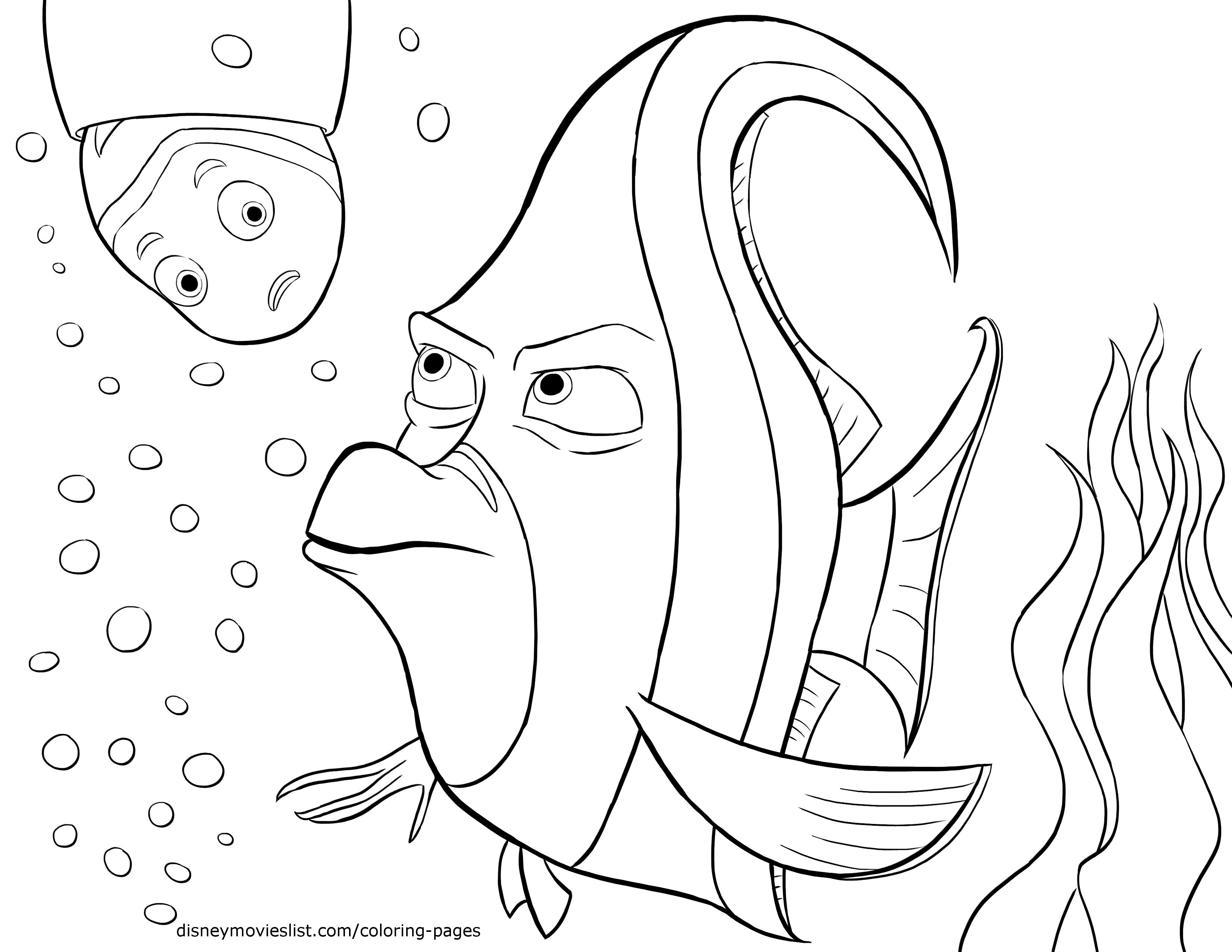 3300x2550 Introducing Finding Nemo Coloring Pages Pdf Ki