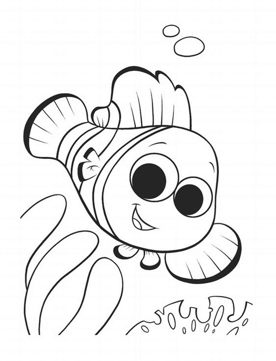 920x1200 Brilliant Design Coloring Page Nemo Crush And Squirt Coloring