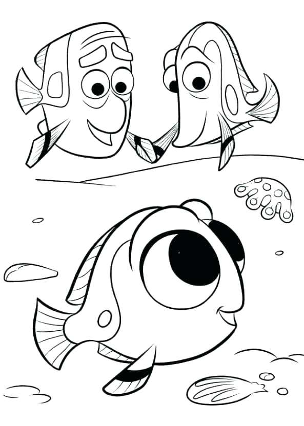 593x832 Finding Nemo Color Pages Finding Coloring Pages Finding Dory