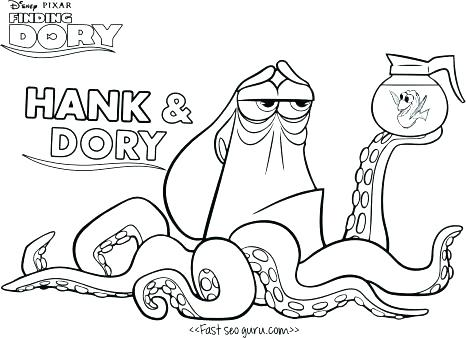 466x338 Finding Nemo Printable Colouring Pages Characters Coloring On Es