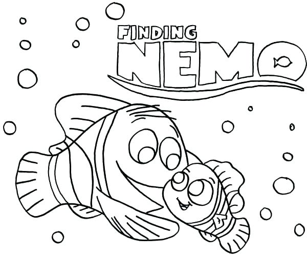600x500 Finding Pearl And Marlin Finding Coloring Pages Finding Nemo