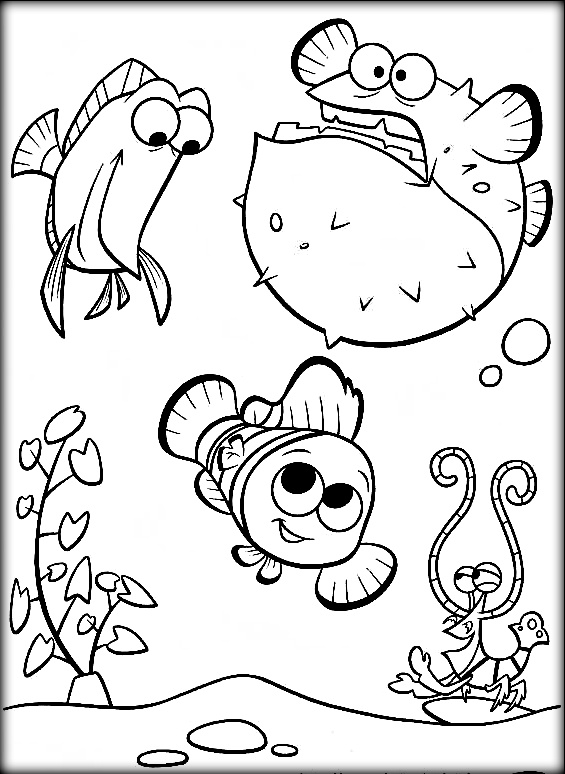 565x774 Squirt Finding Nemo Coloring Pages Printable