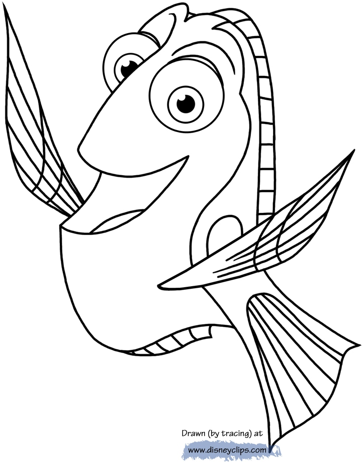 720x920 Dory Coloring Pages Best Of Finding Dory Printable Coloring Pages
