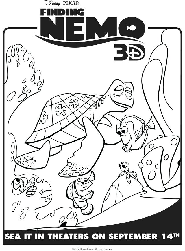 640x865 Finding Color Free Coloring Finding Nemo Printable Coloring Pages