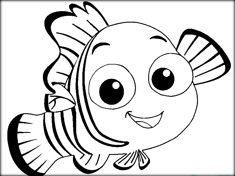 799x600 Cute Nemo Coloring Pages Squirt Finding Nemo Coloring Pages