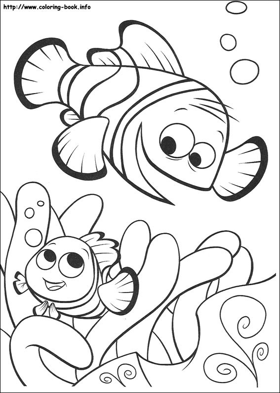 567x794 Endearing Finding Nemo Coloring Page Colouring To Funny Crush