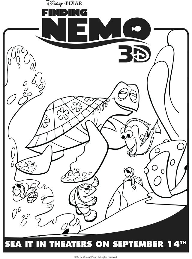 640x865 Finding Nemo Coloring Pages Finding Marlin Dory Crush Free