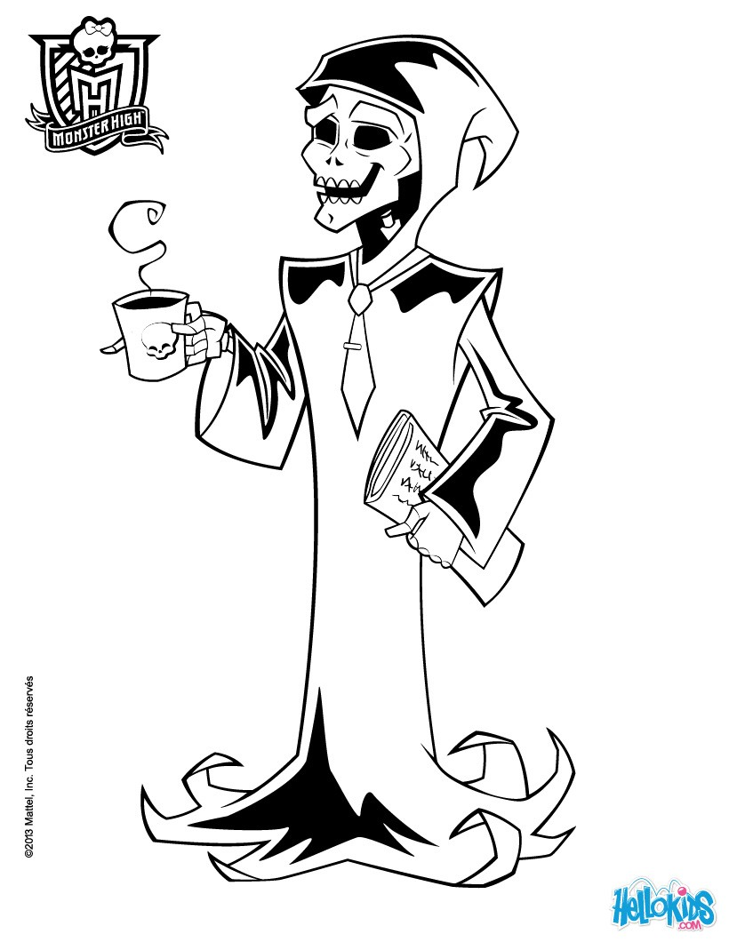 820x1060 Frankie Stein's Big Finger Coloring Pages