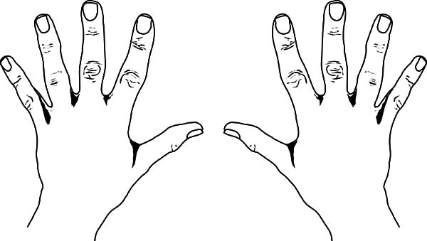 600x339 Hand Coloring Sheet Ten Finger Hands Coloring Pages Best Place