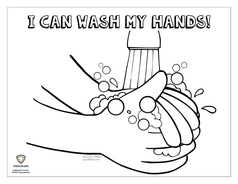 1000x773 Handwashing Coloring Page Coloring Page Hand Pointing Finger Hand