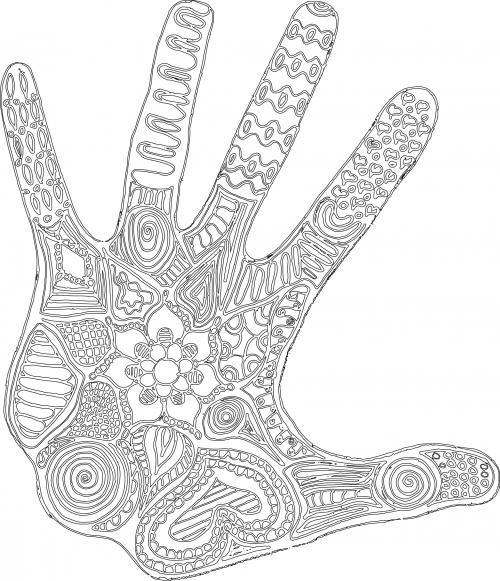 500x581 Fantasy Fingerprint Coloring Page Workplace, Productivity