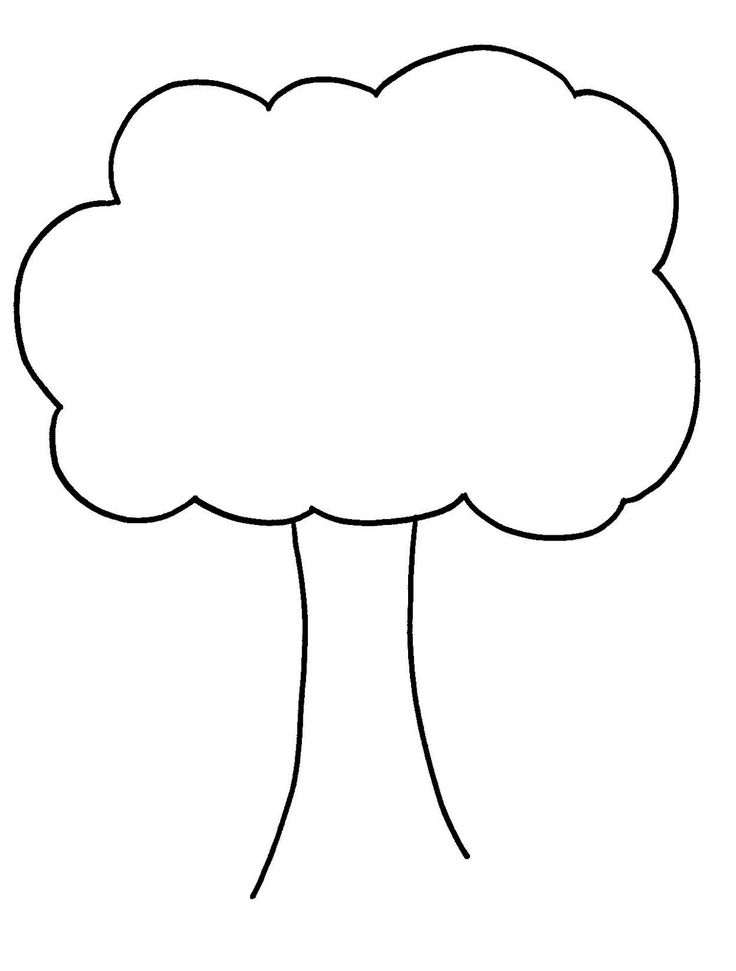 736x971 Quickly Outline Of A Tree Printable Template Sporturka