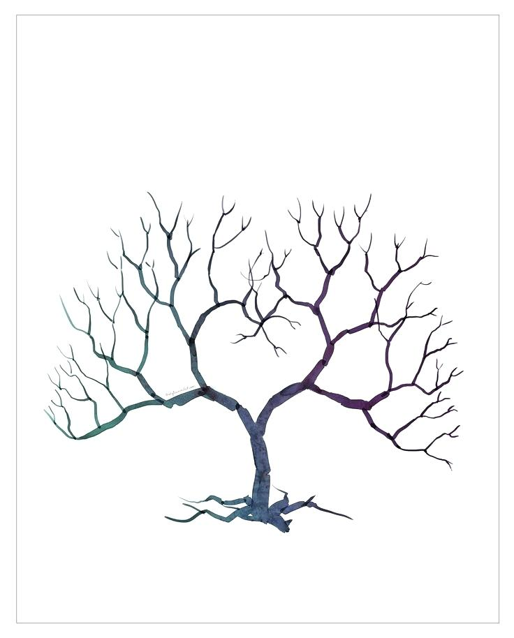 736x914 Tree Branches With Printable Pattern