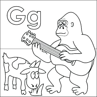400x400 Finish Drawing The Gorilla Coloring Page Also Blank Gorilla