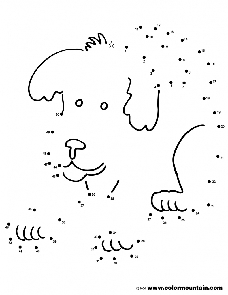791x1024 Finish The Drawing Dog Dot To Dot Coloring Page