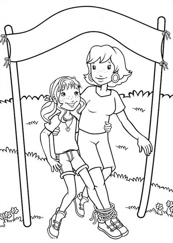 600x841 Holly Hobbie And Her Mother Reach Finish Point Coloring Pages