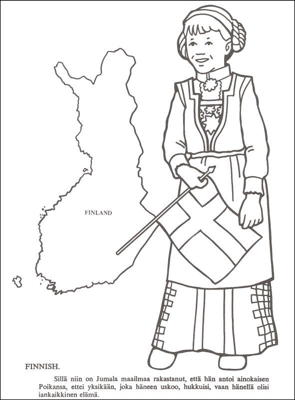 Finland Coloring Pages