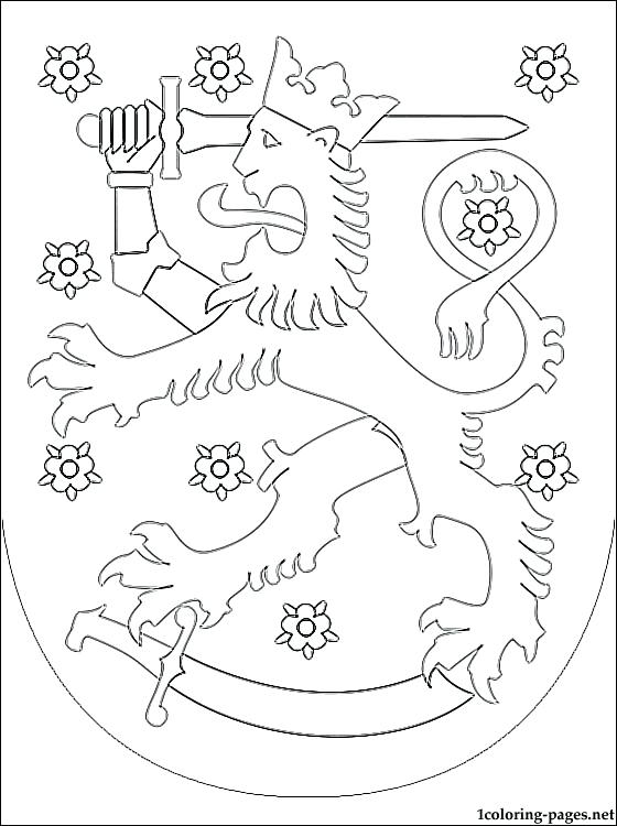 560x750 Finland Flag Colouring Page Coat Of Arms Coloring Pages