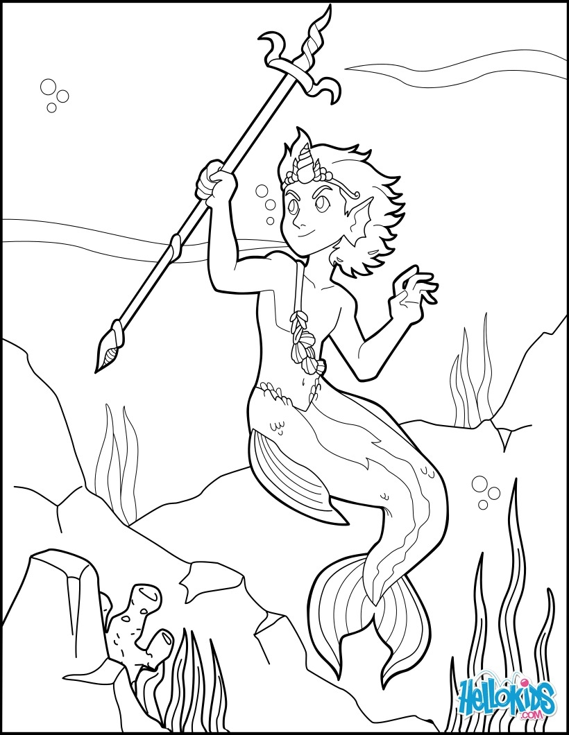820x1060 Mermen Coloring Pages To Print Coloring For Kids