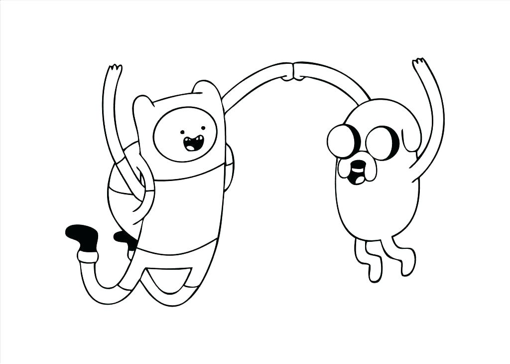 1024x730 Adventure Time Finn Jake Coloring Pages Print Book