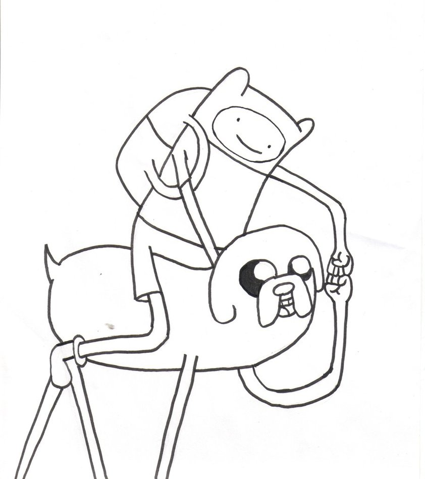 842x949 Cartoon Network Adventure Time Coloring Pages Finn And Jake